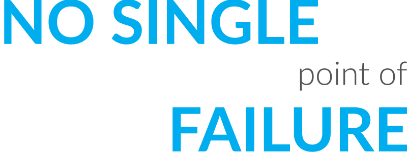 No single point of failure